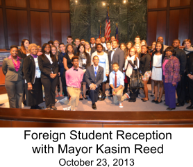 Foreign Student Reception with Mayor Kasim Reed October 23, 2013